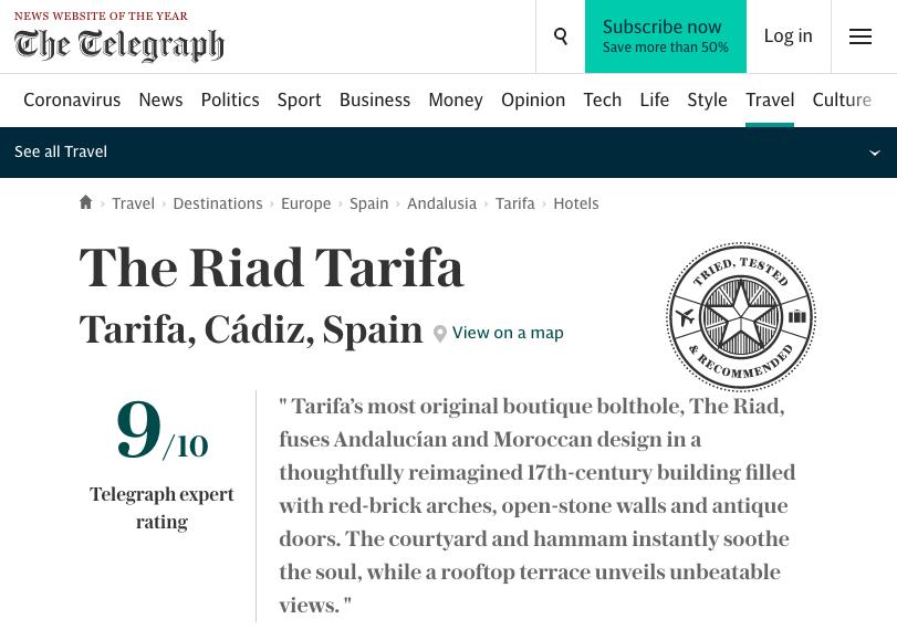The Telegraph The Riad Tarifa